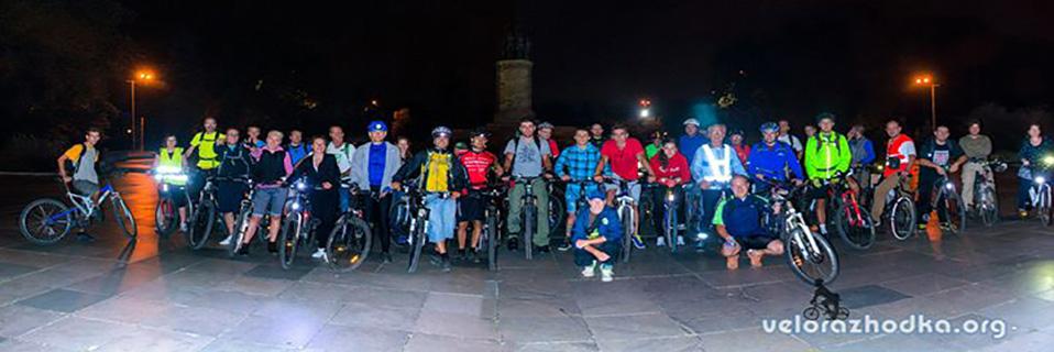 Нощна Велоразходка с колело, Sofia night cycling,